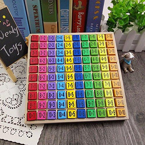 Queta Montessori Educational Holz Spielzeug für Kinder Baby Toys 99Einmaleins Mathematik Arithmetik Teaching AIDS für Kinder