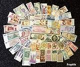 tous Monde 50 différents bankfrische billets de banque dehors 25 différents Pays (billets de banque pour les collectionneurs)