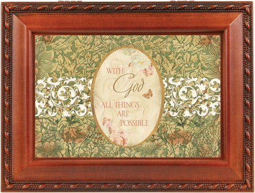 With God All Things Are Possible Music Box By Cottage Garden Collections by Cottage Garden