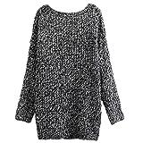 Damen Mode Strickjacke Cardigan Long Sleeves Locker Long Warm Winter Knitted Knit Wear Sweater Casual