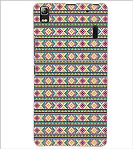 PrintDhaba Pattern D-5206 Back Case Cover for LENOVO K3 NOTE (Multi-Coloured)