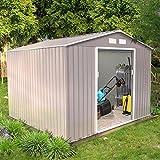 Concept-Usine Sancy 7.06 m² : abri de jardin en metal anti-corrosion gris...