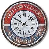 BHP Vintage Wand Uhr Zeit Anzeige analog römische Arabische Zahlen Durchmesser 40 cm B991054