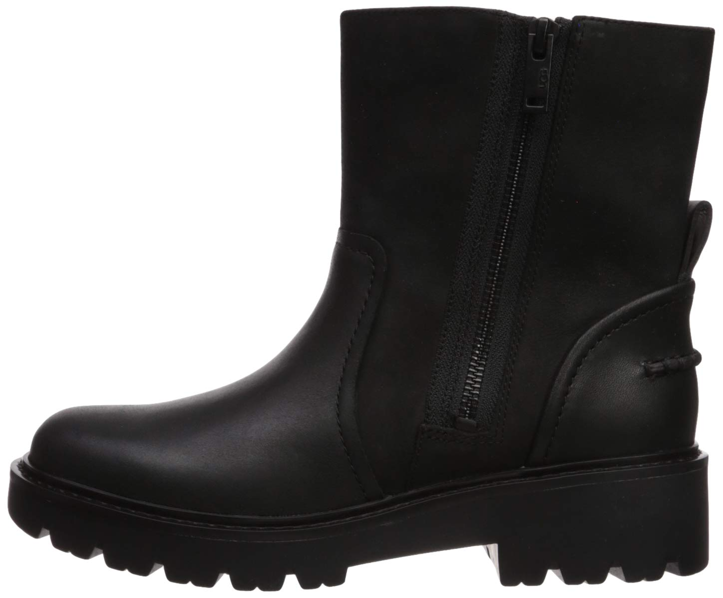 UGG Women's Polk Combat Boot, Black, 7.5 M US 5