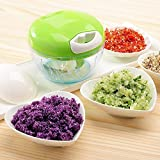 #5: Chopper Vegetable Cutter 4 blade (GREEN) by Pure Kitchenware, Chopper Kitchen, Chopper Handy, Smart Plastic Chopper, Blender Slicer, Chopper Vegetable Cutter