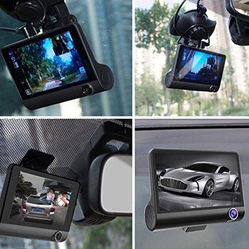 Altsommer Doppelter Bildschirmschreiber Autokamera HD 1080P DVR mit 170° Weitwinkelobjektiv,4,0-Zoll-IPS-HD-Bildschir,4 '' Doppelobjektiv-G-SensoAuto Kamera mit 32 GB, Nachtsicht (A)