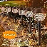 Lampada solare da giardino, Tencoz Solari Lanterna LED luce solare bianco caldo solare lanterna Stake impermeabile IP44 lampada solare Stake Esterne per Villa Prato Marciapiede