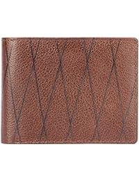 Tony Hills Men's Brown Zig Zag Design Genuine Leather Wallet 1007-12