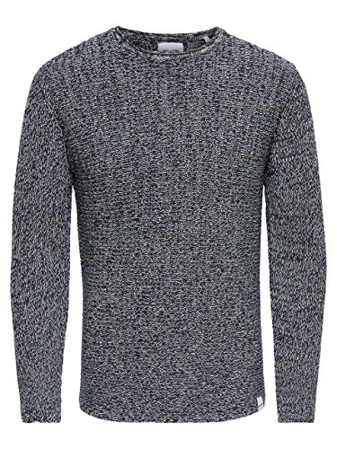 Only & Sons Sato Multi Clr Strickpullover Knit Pullover Sweater Black