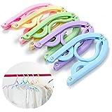Creatieve 10 stuks draagbare opvouwbare plastic kleerhangersrekken voor kamperen in de buitenlucht (willekeurige kleur)