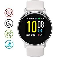 UMIDIGI Smartwatch Uwatch 2S, wasserdichte Fitness Armbanduhr mit frei wählbaren Hintergundbild, Fitness Tracker mit Pulsuhr, Stoppuhr, Schrittzähler, Schlafmonitor für Damen und Herren, Weiß