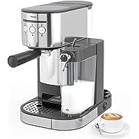 Kenwell PrimaLatte II Kaffee- und Espressomaschine, 20 Bar Druck, für Kaffeepulver, Integrierter automatischer…