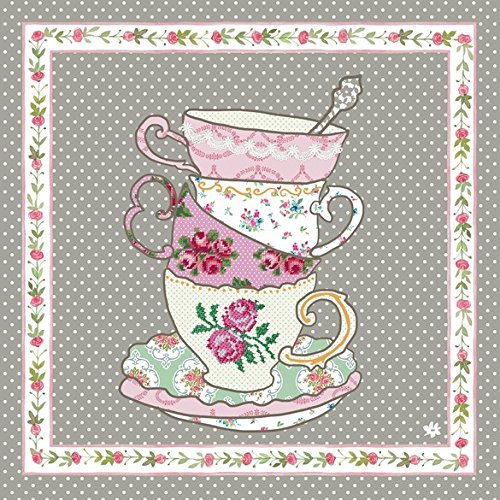 TT73 Clayre & Eef - Tea Time - Serviettes - Paper napkins (x20) ca. 13 x 13 in