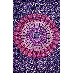 Pink & Purple Mandala Tapestry , Hippie Tapestries , Bohemian Boho Tapestry , Dorm Tapestry ,Wall Tapestries, Tapestry Wall Hanging- AndExports by AndExports