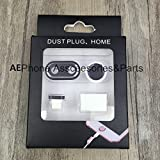 #10: AE (TM) [IPHONE 7 PLUS] 4 In 1 Rear Camera Lens Protective + Home Key Protective + Dust Plug + headphone support for Iphone 7 PLUS (5.5'') Dust Plug BLACK