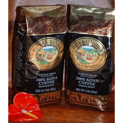 Royal Kona Private Reserve 100% Pure Kona Coffee Whole Bean (2 Bags) by Hapa's Gourmet Inc.