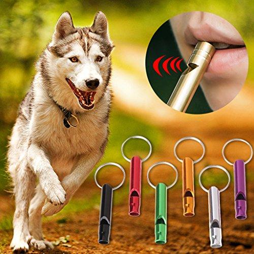 FURU Pet Dog Training Whistle Tragbar Flöte Aluminium Legierung Farben Zufällige