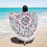 KING DO WAY 2 mm / 0,08 ' Gesäumt Baumwolle Strand Runde Mandala Sunscreen Schal Wandteppich Wickelrock Yoga-Matte Indischen Handtuch Für Outdoor Sandstrand Und Innen Dekoration