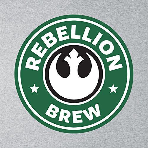 Star Wars Rogue One Rebellion Brew Coffee Starbucks Logo Women's Vest Heather Grey