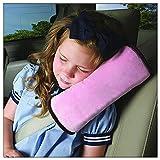 #3: Baby Car Seat Cushion   Comfortable Kids Car Sleep Pillow   Avoid Jerks Shocks Neck Head Safety   Color Pink
