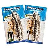 2 x Massagegerät Super Duo, Akupressur Massage mit Magnet und Vibration