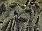 Englisch Wolle Tweed passend Kleid Stoff Olive