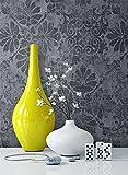 newroom Papier peint baroque gris papier peint intissé Noir Baroque, classique, naturel Belle et moderne, aspect Design élégant avec guide à tapisser