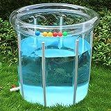 L&J Baby-schwimmbad Transparent Pvc Aufblasbare Baby planschbecken Verstellbar Aluminium-halterung-C 80x80cm(31x31inch)