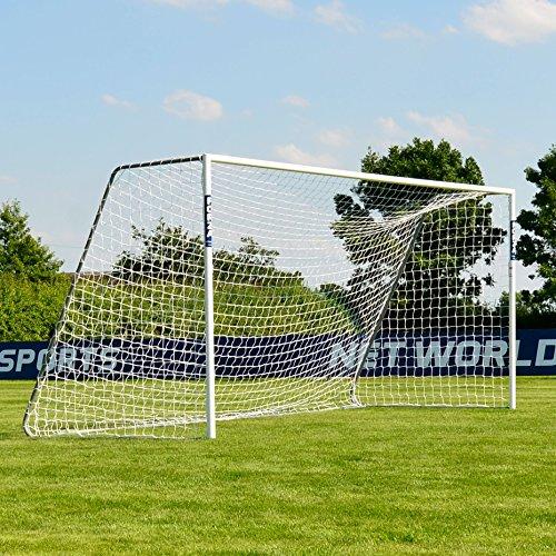 FORZA Alu60 Aluminium Fußballtor mit Netz (1,8m x 1,2m >>> 7,3m x 2,4m) [Net World Sports] (5m x 2m)