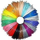 Greatssly 594 pies lineares 3D Pen filamento recambios 1.75mm PLA material de 18 colores únicos 33 pies cada color (no ABS)