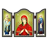 NKlaus 1425 Mäßigung der bösen Herzen Siebenpfeilige Christliche Ikone Semistrel'naja Ik