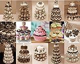 Buyi-World Tortenständer Mehrstöckige Hochzeit Muffinständer und Dessert Tower, Kuchen Deko Gestell Stabil für Geburtstag und Feier Party, 5 etagen Acryl - 2