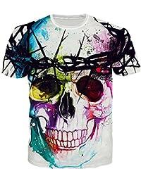 Bfustyle Herren T-Shirt mit Lustig Grafik-Druck Weiches Jersey Rundhalsausschnitt Casual Top Tees