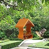 Vogelhäuschen, Hängende Station Wild Für Garten Dekoration Outdoor-Vogel-Feeder,Orange