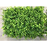 Vertical System Green Leaf Artificial Grass Wall Tiles 60 Cm X 40 Cm (2.60 Sq.ft) (3226 - D) (Pack Of 4)