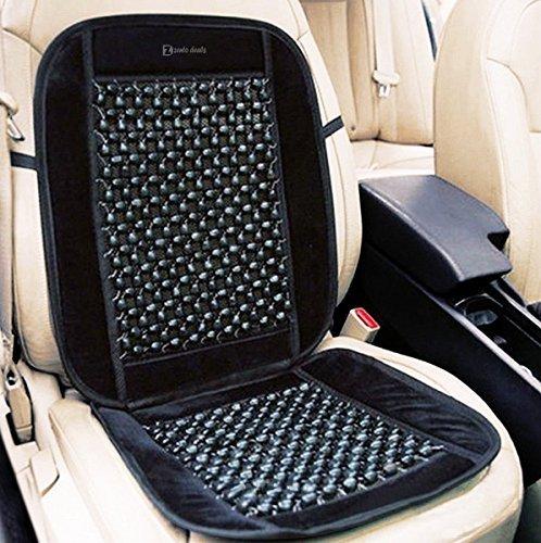 Zento deals in legno nero rilievo velluto coprisedili premium quality ultra comfort massaggio cool seggiolino auto cuscino 88,9x 43,2cm