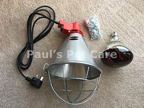 Infrared Radiant Heat Lamp & Red Bulb High Low Switch Poultry Chickens Chicks Test