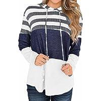 Coloody Felpa Donna Maglietta Manica Lunga Tunica T-Shirt Loose Felpe con Cappuccio Hoodie Sweatshirt Tops