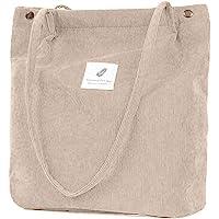 ZhengYue Damen Handtasche Groß Canvas Tasche Damen Cord Umhängetasche Henkeltasche Shopper Damen für Uni Arbeit Mädchen…