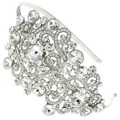 Heirloom Treasure Swarovski Crystal Bridal Hair Band Headband Tiara by Bridal Wedding Accessories.co.uk