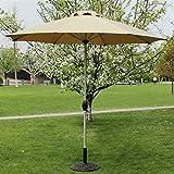 Sombrillas Parasol Paraguas Mercado Patio Exterior Jardín Mesa de jardín Sol Toldo Aluminio Poste Paraguas Protector UV 270cm * 250cm (Color : Caqui)