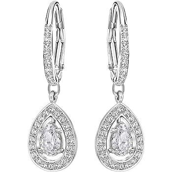 4c8d15082160da Swarovski Attract Light Pear Pierced Earrings