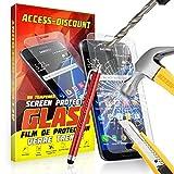 FILM PROTECTION Ecran en VERRE Trempé pour SAMSUNG GALAXY CORE PRIME SM-G360 SM G360 filtre protecteur d'écran INVISIBLE & INRAYABLE vitre INCASSABLE pour Smartphone Core PRIME VE Value Edition G360H G360F dual sim SM-G360F G 360 4G LTE sm-g361f g361 sm g361f 361 (Verre + Stylet ROUGE)
