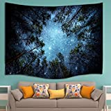 HENGSONG Jungle Starry Sky Printed Tapestry Wall Hanging Bohemian Bedspread Home Decor