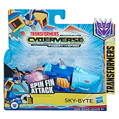 MEGA Transformers Action Attackers Cyberverse 1-Step Changer Sky-Byte Action Figure