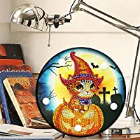 Cathy02Marshall DIY Christmas Diamond Painting Lamp With LED Lights Drill Crystal Drawing Kit Bedside Night Light Arts Crafts For Home Decoration applied