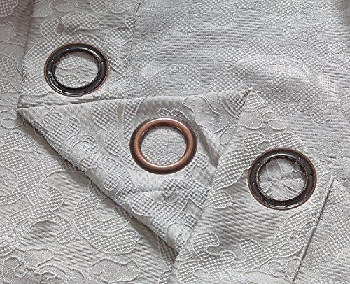 Pimpamtex tende oscuranti confezionate, 2pezzi. tende oscuranti per salotto, cameretta e camera, con 8occhielli, 140x 260cm, modello jacquard damasco. 140_x_260_cm perla