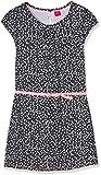 s.Oliver Mädchen Kleid Kurz 66.702.82.2645, Mehrfarbig (Mitternachtsblau AOP 58A1), 146 (Herstellergröße: 146/REG)