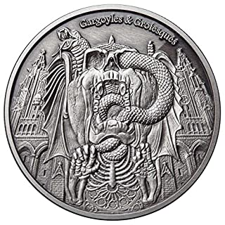InverCoin Gargoyles & Grotesken - Verfall 1000 CFA Francs 1oz Silbermünze - Tschad 2017