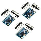 WayinTop 3 Piezas GY-521 MPU-6050 3 Ejes Giroscopio y 3 Ejes Acelerómetro Sensor Módulo 16 bits AD Convertidor de Datos Salid